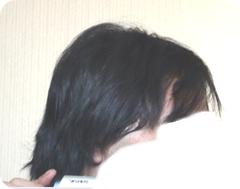 4ヶ月めぐらいの髪 横顔