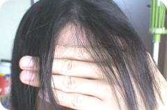 自宅で縮毛矯正をした時の髪
