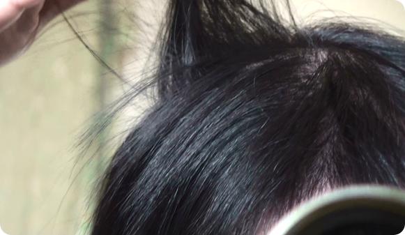 1日後の髪