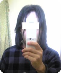 髪を長く伸ばした頃